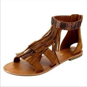 Shoes - 💃🏻Miranda Fringe Gladiator Sandals